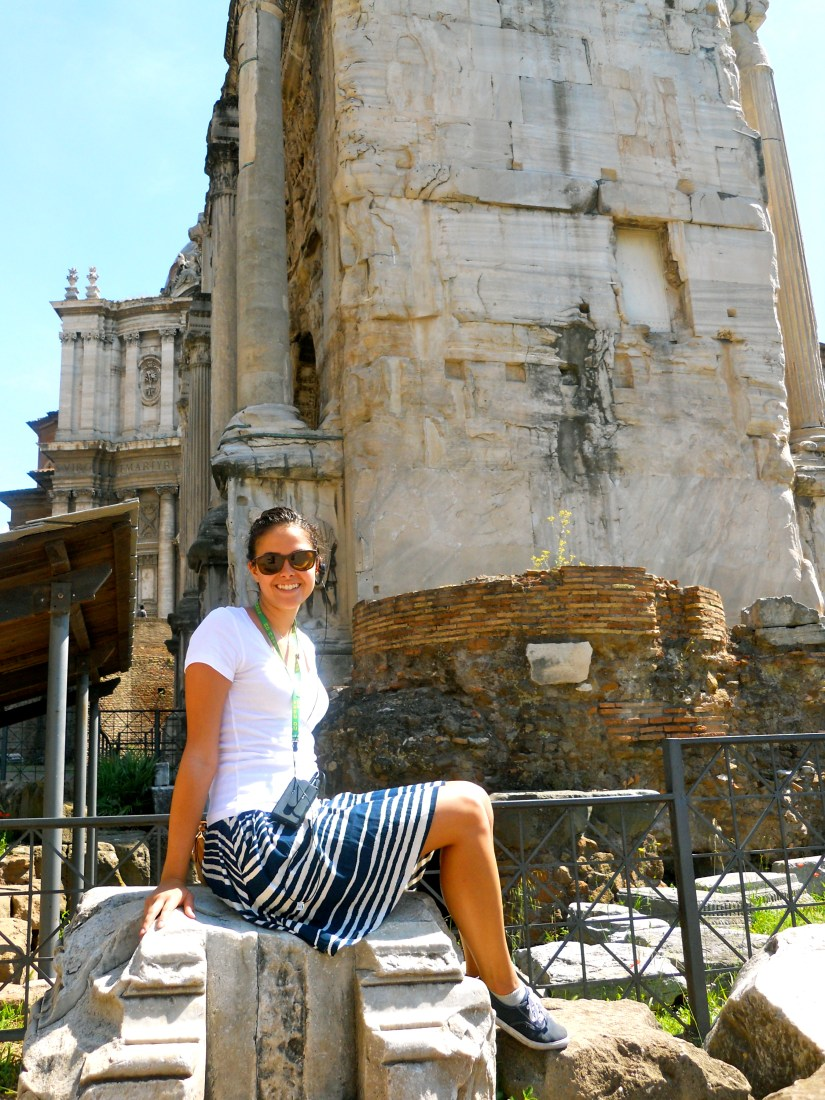 Roman Forum (with me), ????, Rome