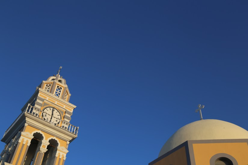 Santorini church dome & belltower