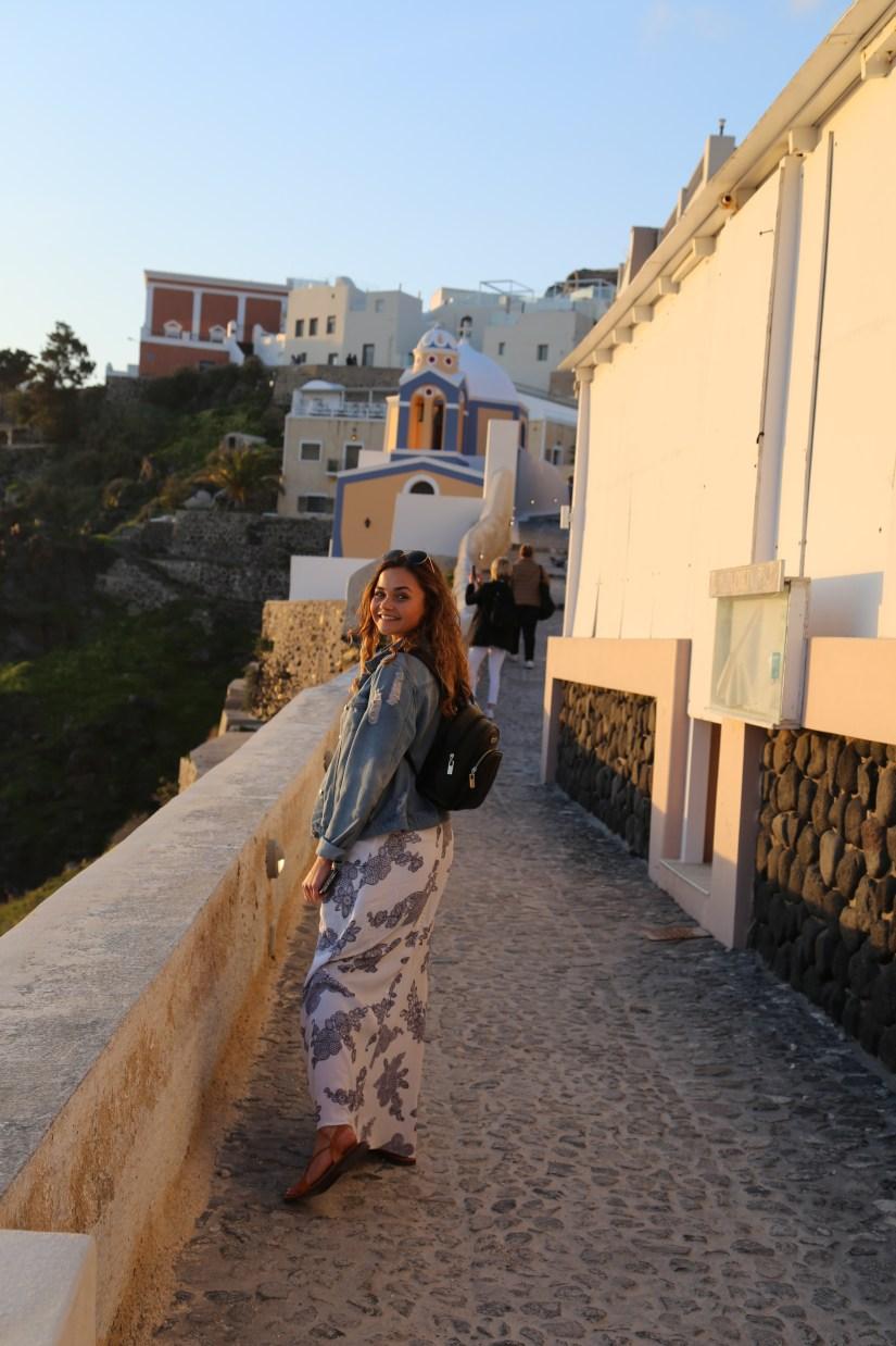 Santorini with lauren