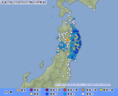 地震予知情報 国内中規模注意 各地地域別反応