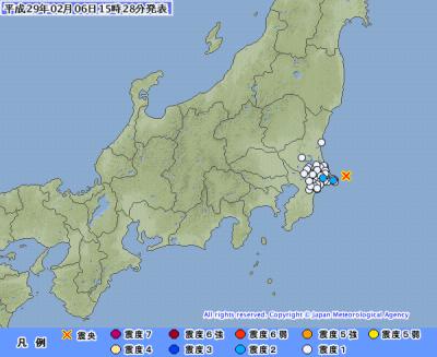 地震予知情報 3日ほど中規模注意