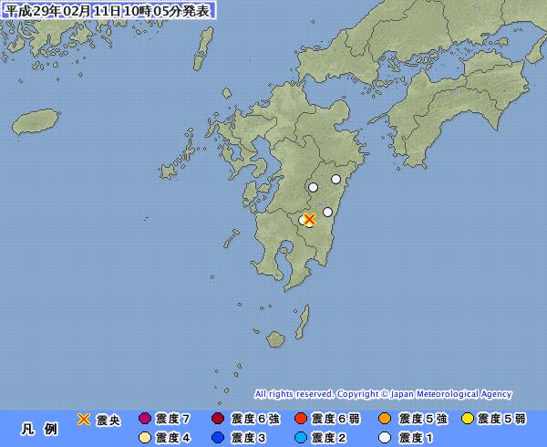 地震予知情報 福島沖M5.2 阿蘇山