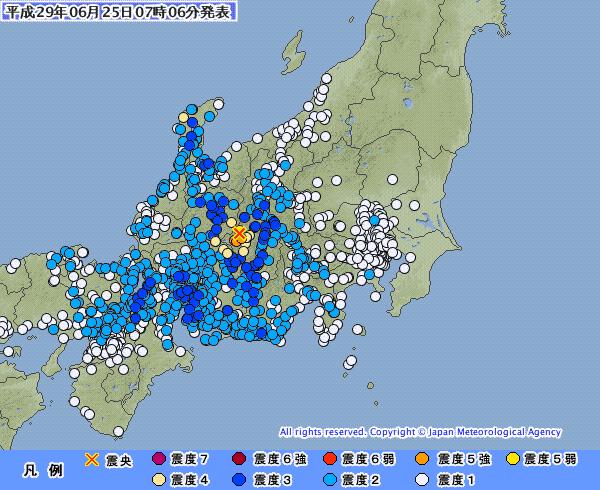 地震予知 予測 長野震度5強 日本付近の反応連絡