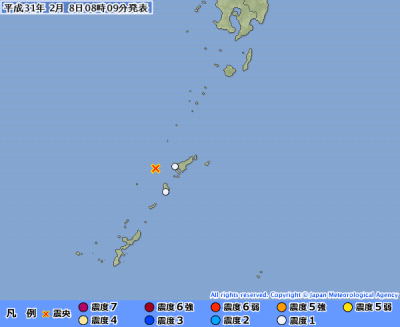 地震予知 国内M5注意のこり3日間(1日延長)
