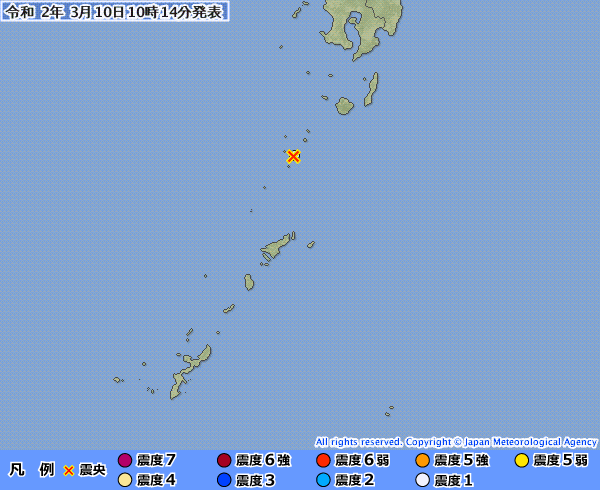 地震予知 国内M5~M6気配 3日程度