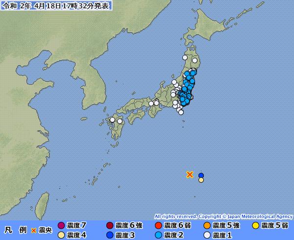 地震予知 国内M5~M6注意のこり3日間 国内M6気配