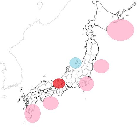 地震予知 国内M7注意のこり6日間 その他M5注意