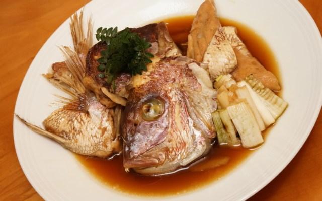 真鯛のアラ煮