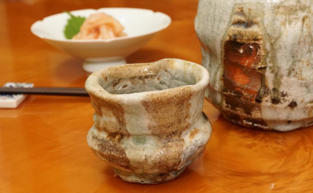 イカ明太と焼酎