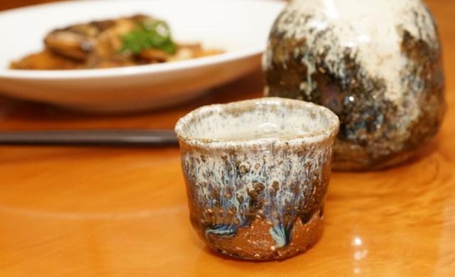 ヒラメのアラ煮と日本酒