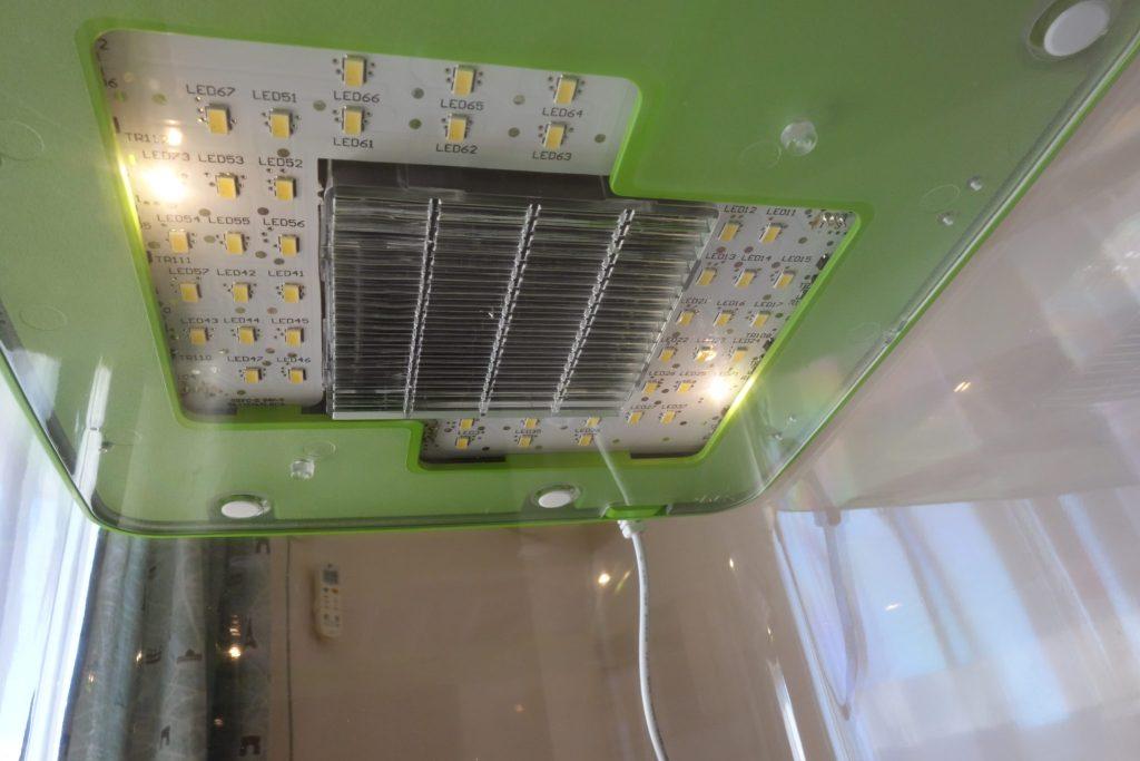 Greenfarmの常夜灯モードの画像。実際に撮影。