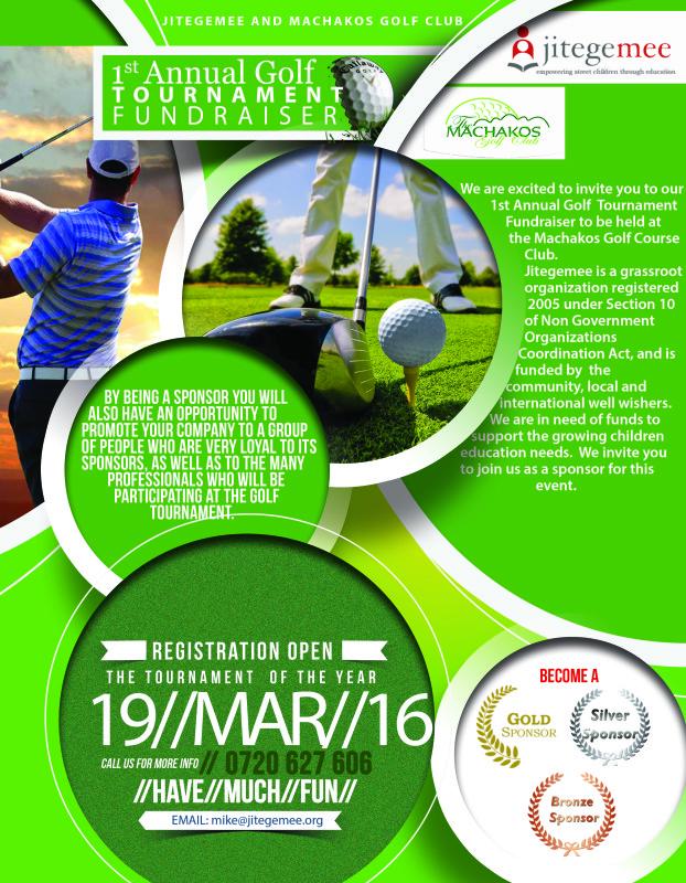 Jitegemee and Machakos Golf Club - 1st Annual Fundraiser 3-19-2016