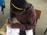 Students write their letters to penpals at CCLCS school in the USA.
