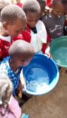 Children were taught about basic hygiene and sanitation.