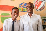 John Kiluma and his friend, Meshack Nzioko, another Jitegemee university student.