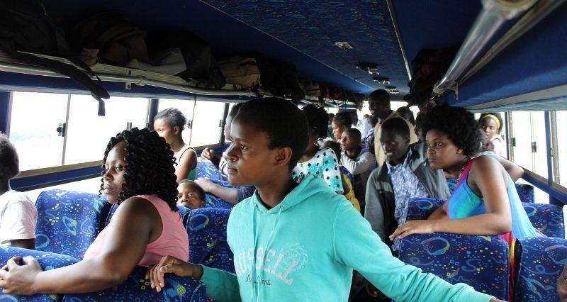 Viewing game at Lake Nakuru from the bus.