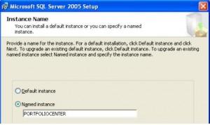 SQl Server 2005 Named Instance