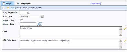 Edit Data Step in BPA Script of Oracle Utilities / ORMB / CC&B