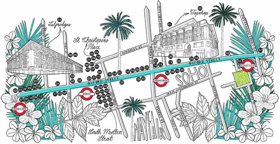 Shortlist Magazine Oxford St Map Illustration Jitesh Patel