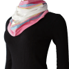 Kikoy Infinity Scarf - White with Pink Border