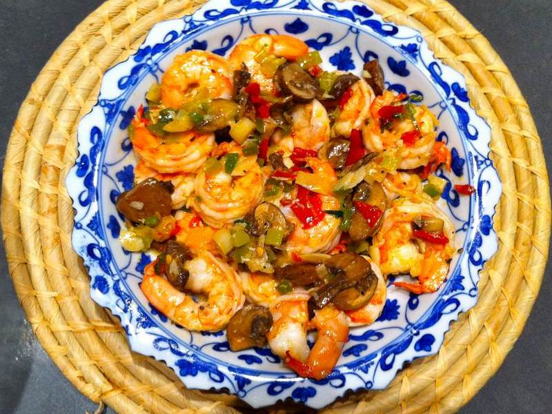 On the spur of the moment – Easy shrimp dish
