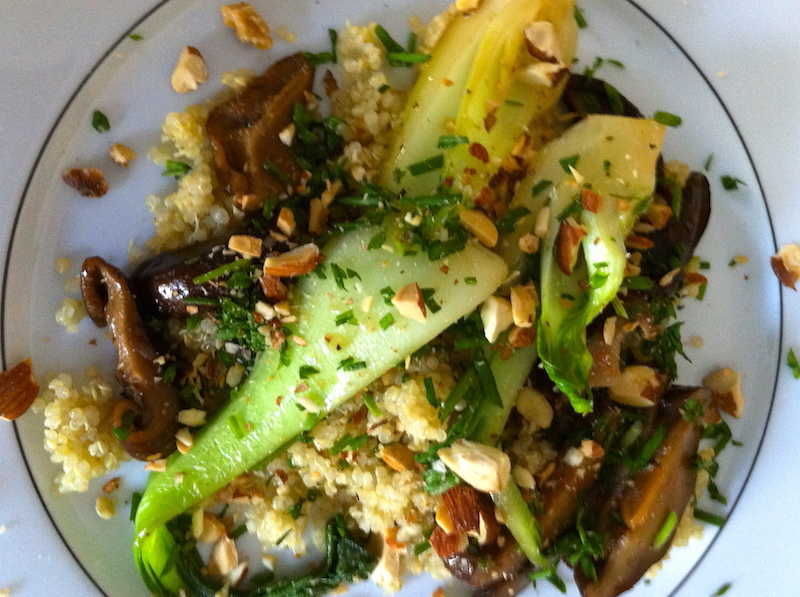 Quinoa, Bok Choy and Shiitake Mushrooms – Healthy, wealthy in what matters and wise