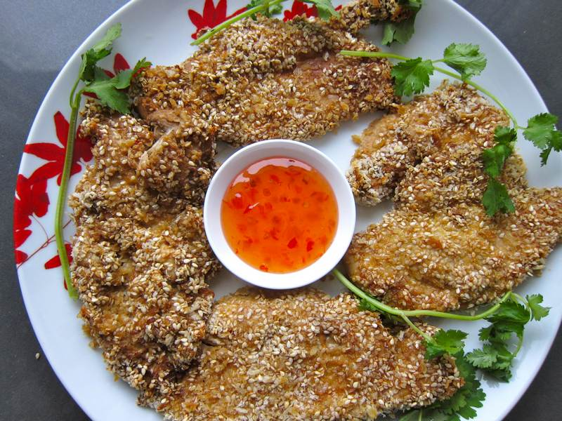 Sesame Ginger Chicken - Faux Fried