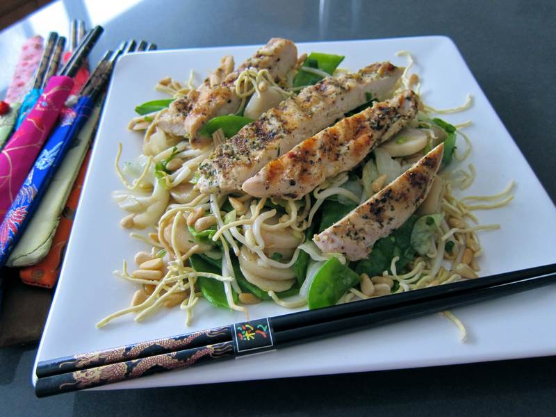Asian Salad - Topped with Grilled Chicken