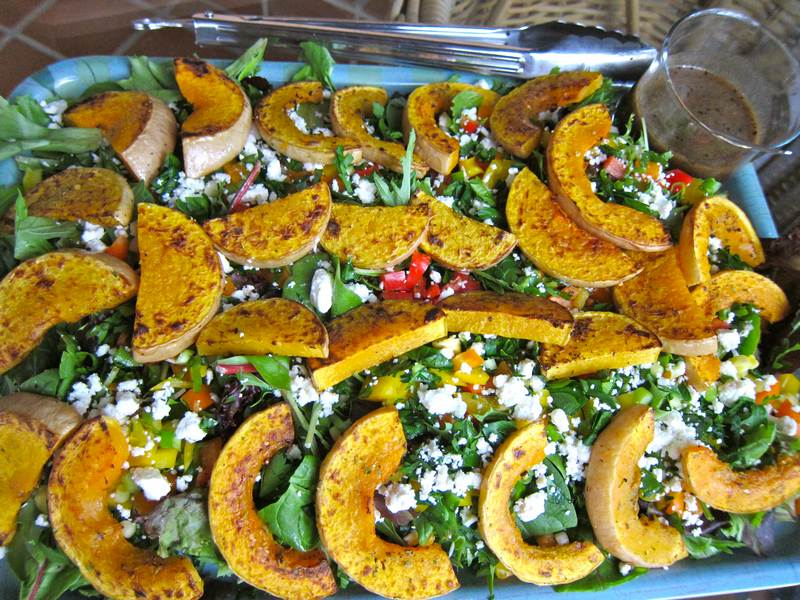 Roasted Squash Salad to Ring in the New Year
