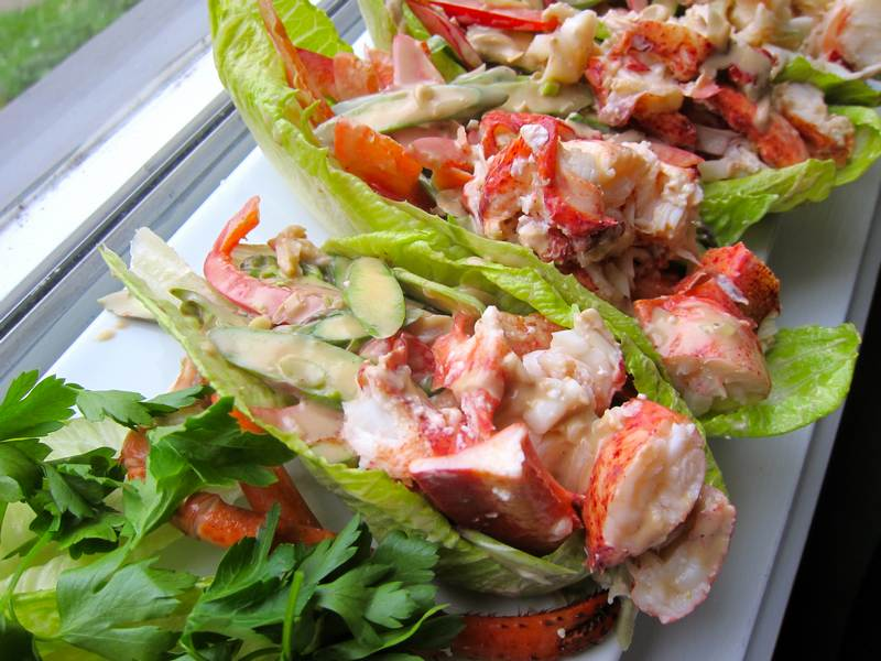 Lobster Salad to Inspire Chihuly