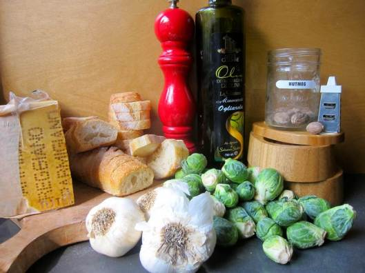 Brussels Sprouts, Roasted Pepper or Zucchini Bruschetta