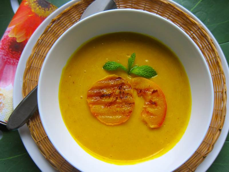 Curried Peach Squash Soup
