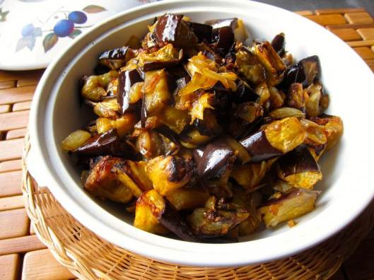 Spicy Roasted Eggplant