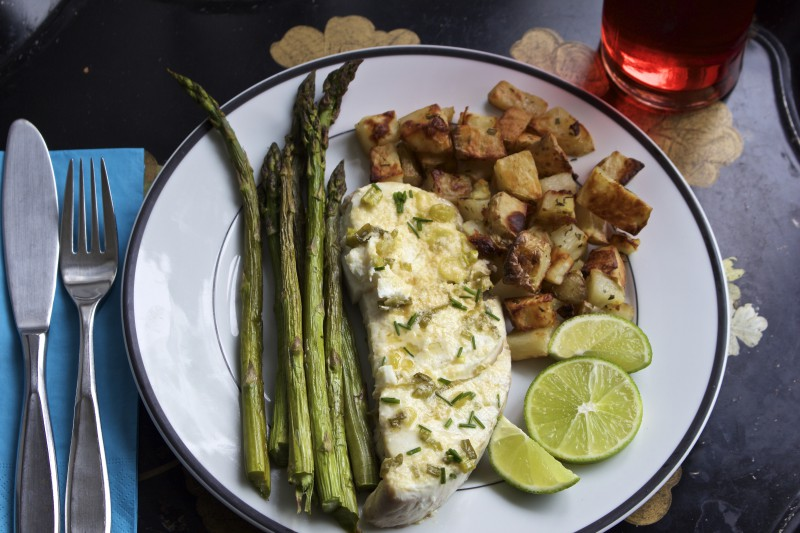 Parmesan Broiled Halibut Steak – A Happy Marriage
