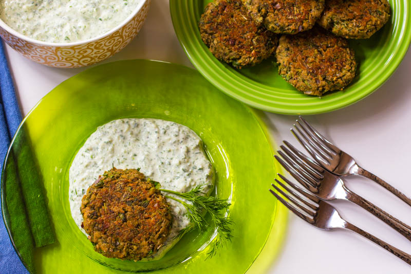 Salmon Patties Swimming in Emerald Sauce