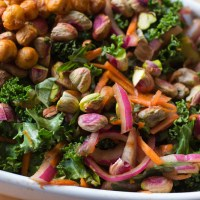 Orange Scented Kale Salad with Smoky Chickpea Croutons - It Keeps!