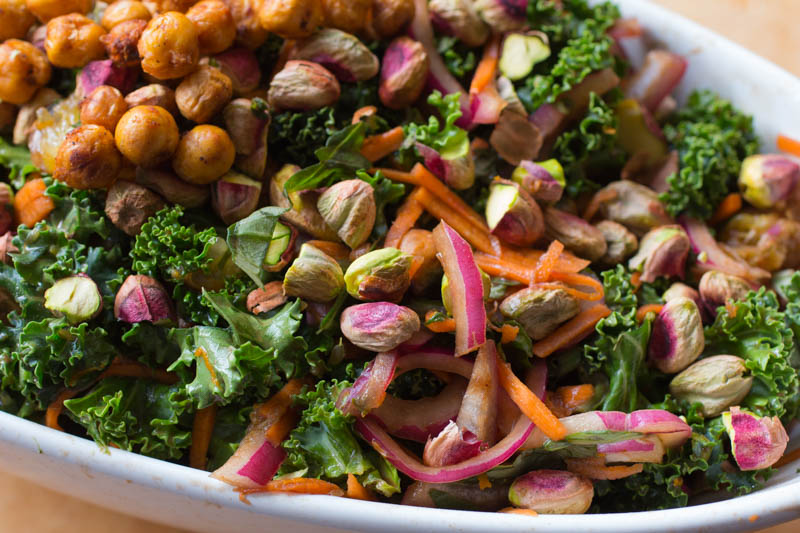 Orange Scented Kale Salad with Smoky Chickpea Croutons – It Keeps!