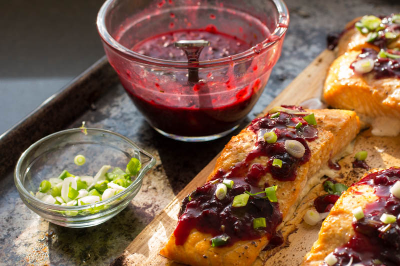 BBQ Salmon - Blackcurrant Ginger Sauce