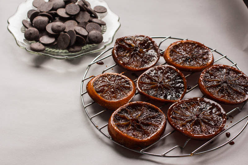 dark chocolate candied orange