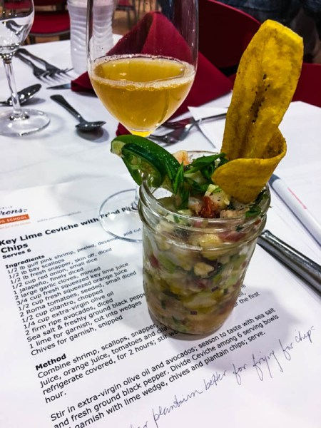 Key Lime Ceviche with Plantains