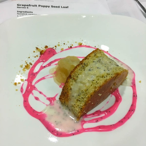 Grapefruit Poppy Seed Loaf with Orange Blossom Honey Sorbet