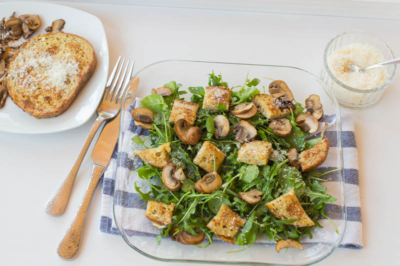 Savoury French Toast Crouton Salad