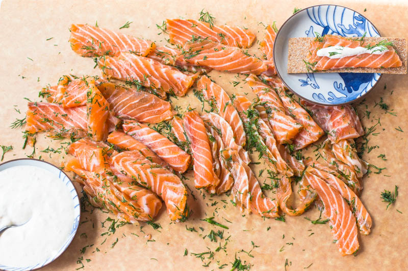 Vodka-Cured Irish Salmon with Horseradish Mayonnaise