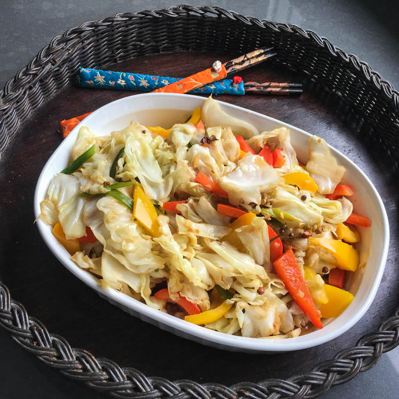 Szechuan Cabbage Stir Fry - So Sizzlin' Hot
