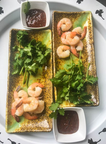 Taiwanese shrimp cocktail, shrimp recipe, shrimp cocktail, Taiwanese cocktail sauce, cocktail sauce, seafood sauce, easy seafood sauce, Michael Smith shrimp cocktail, appetizer, shrimp appetizer