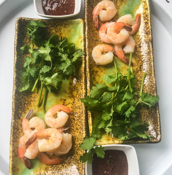shrimp recipe, shrimp cocktail, Thai cocktail sauce, cocktail sauce, seafood sauce, easy seafood sauce, Michael Smith shrimp cocktail, appetizer, shrimp appetizer