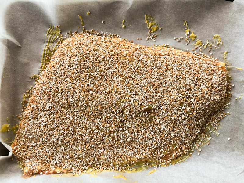 Kasha Crusted Salmon