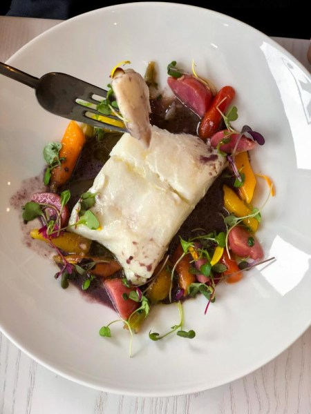 Halibut, Sea Parsley and Root Vegetables