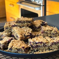 Blackcurrant Jittery Jam Squares - Summery Delight