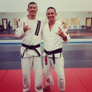 Henry Aikens and Ty Gay preparing for a seminar at Redline GJJ. Photo courtesy of Ty Gay
